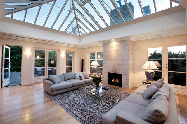 Edwardian tiled conservatory roof with skylight roof