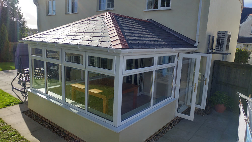 final step of solid conservatory roof installation