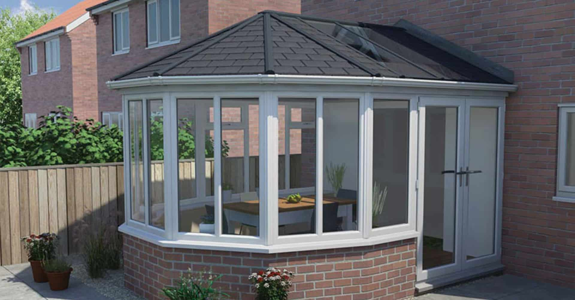 finished tiled conservatory roof